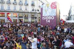Protestos em madrid Foto de Stock Royalty Free