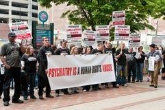 Protestos em Philadelphfia, maio 2012 do Anti-Psiquiatria Fotos de Stock