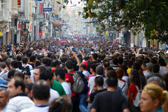 Protestos em Turquia Foto de Stock