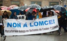 Protestos na Espanha fotos de stock