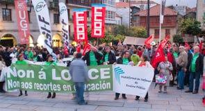 Protestos na Espanha imagens de stock