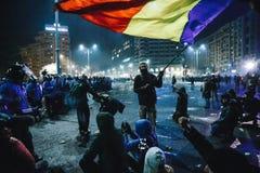 Protestos Romênia Foto de Stock Royalty Free