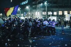 Protestos Romênia Foto de Stock