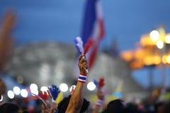 Protestoverheid in Thailand Stock Foto