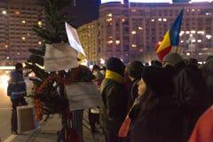 24 01 2018-protests в Румынии Стоковые Фотографии RF