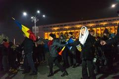 24 01 2018-protests в Румынии Стоковая Фотография RF