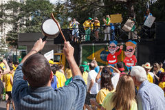 Protests against Brazilian president Royalty Free Stock Photography