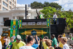 Protests against Brazilian president Royalty Free Stock Photo