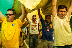 Protests against Brazilian president Stock Photography