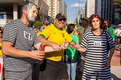 Protests against Brazilian president Stock Photos