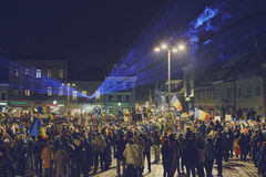 Protests against controversial law, Brasov, Romania Royalty Free Stock Image