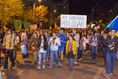 Protests against cyanide gold extraction at Rosia  Royalty Free Stock Photography