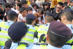 Protests against HKSAR Policy Address, Budget forums Royalty Free Stock Photography