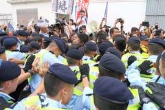 Protests against HKSAR Policy Address, Budget forums. Protests against the Policy Address, Budget forums at Hong Kong Stock Images