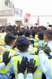 Protests against HKSAR Policy Address, Budget forums. Protests against the Policy Address, Budget forums at Hong Kong Stock Photo