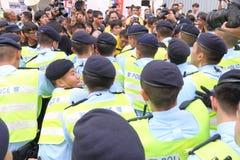 Protests against HKSAR Policy Address, Budget forums. Protests against the Policy Address, Budget forums at Hong Kong Stock Image