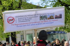 Protests against TTIP in Austrian cities Stock Image