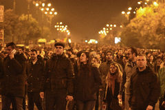 Protests in Bucharest for justice Royalty Free Stock Photography