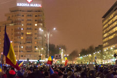 Protests in Bucharest Stock Photo