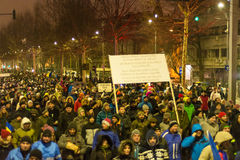 Protests in Bucharest Stock Images