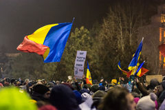 Protests in Bucharest Royalty Free Stock Photos