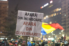 Protests in Bucharest Royalty Free Stock Photography