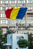 Protests in Bucharest Romania against the corrupt government - August / 11 / 2018 Royalty Free Stock Photos