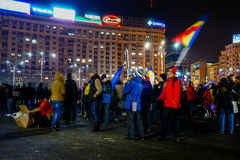 Protests, Bucharest, Romania Stock Image