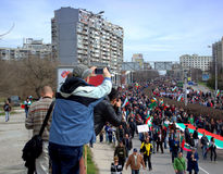Protests in Bulgaria 2013 Stock Images