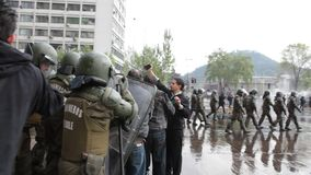 Protests in Chile stock video