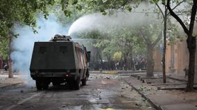 Protests in Chile stock video footage