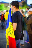 Protests day 96 in Bucharest, Romania Royalty Free Stock Photo