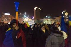 24 01 2018-protests em Romênia Fotos de Stock