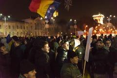 24 01 2018-protests em Romênia Imagens de Stock