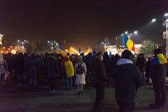 24 01 2018-protests em Romênia Imagem de Stock