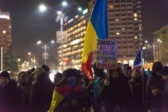24 01 2018-protests en Rumania Fotos de archivo libres de regalías