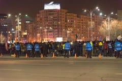 24 01 2018-protests en Rumania Imagen de archivo libre de regalías