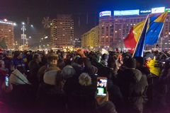 24 01 2018-protests en Rumania Fotografía de archivo libre de regalías