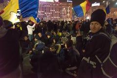 24 01 2018-protests en Rumania Imágenes de archivo libres de regalías