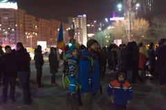24 01 2018-protests en Rumania Fotografía de archivo