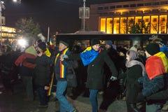 24 01 2018-protests i Rumänien Fotografering för Bildbyråer