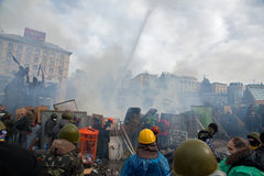 Protests in Kiev Stock Image