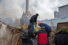 Protests in Kiev Stock Photography