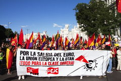 Protests in madrid Stock Photo