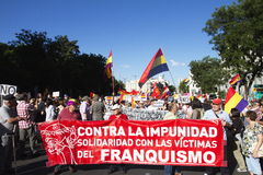 Protests in madrid. Referendum protests in Madrid, Spain Royalty Free Stock Image