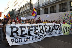 Protests in madrid Stock Photography