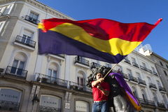 Protests in madrid. Referendum protests in Madrid, Spain Stock Photography