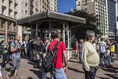 Protests in São Paulo - Brazil. The day after at city hall Royalty Free Stock Images