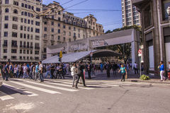 Protests in São Paulo - Brazil. The day after at downtown Royalty Free Stock Photography