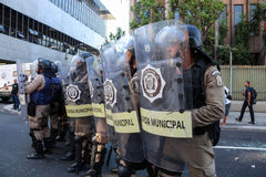 Protests in Rio de Janeiro has violence and damage to Carnival s Royalty Free Stock Image